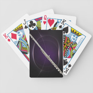 Flute On Purple Bicycle Playing Cards