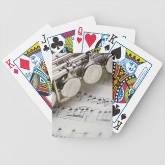 Flute on Sheet Music Poker Deck