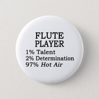 Flute Player Hot Air 2 Inch Round Button