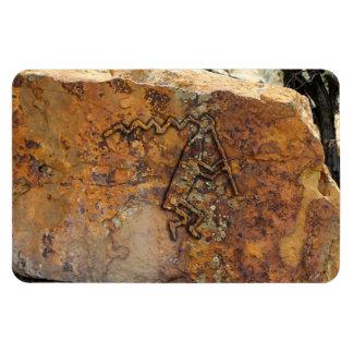 Flute Player Petroglyph Magnet