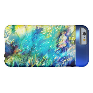 FLUTE PLAYING PAN AND DEER IN GREEN FOREST BARELY THERE iPhone 6 CASE
