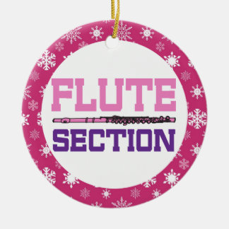 Flute Section Band Music Christmas Ornament Gift