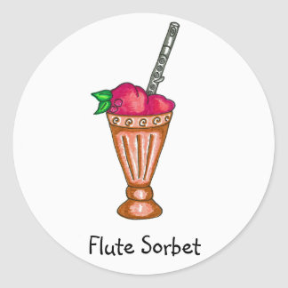 Flute Sorbet Sticker