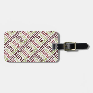Flute Text Luggage Tag