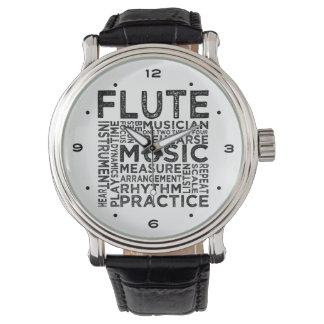 Flute Typography Watch