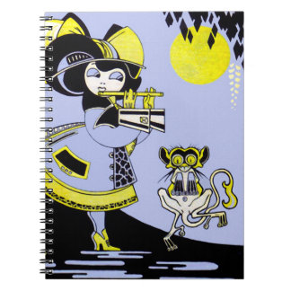 Flutist and the Monkey Spiral Note Books