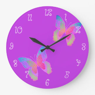 Flutter-Bye (violet) clock