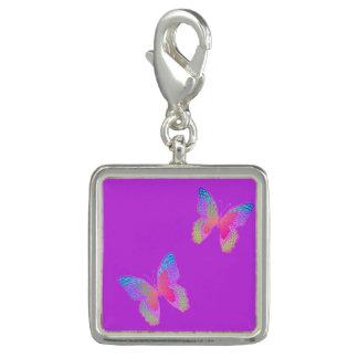 Flutter-Byes (violet) charm