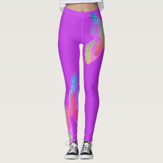 Flutter-byes (violet) leggings