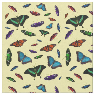 Flutterbies Fabric (Yellow)