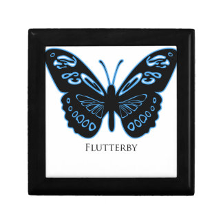 Flutterby Black Blue Glow Gift Box