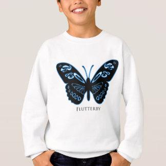 Flutterby Black Blue Glow Sweatshirt