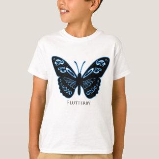 Flutterby Black Blue Glow T-Shirt