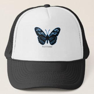 Flutterby Black Blue Glow Trucker Hat