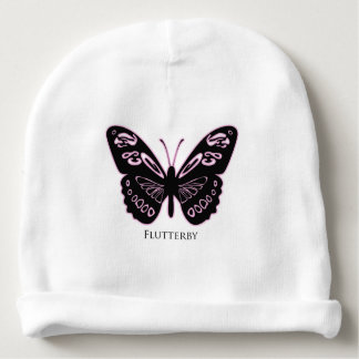 Flutterby Black Pink Glow Baby Beanie