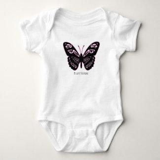 Flutterby Black Pink Glow Baby Bodysuit