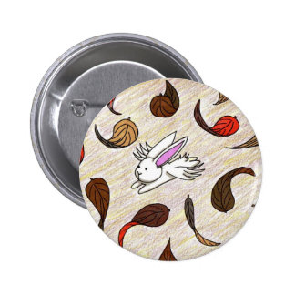 Flutterby Bunny Autumn Badge Buttons