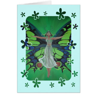 Flutterby Fairy Card