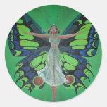 Flutterby Fairy Round Sticker