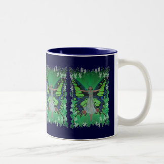 Flutterby Fairy with Leaves Coffee Mug