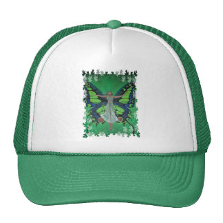 Flutterby Fairy with Leaves Trucker Hat