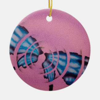 Flutterbye Round Ceramic Ornament