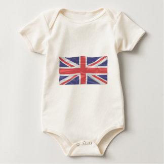 Fluttering Silk Union Jack Baby Bodysuit