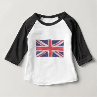 Fluttering Silk Union Jack Baby T-Shirt