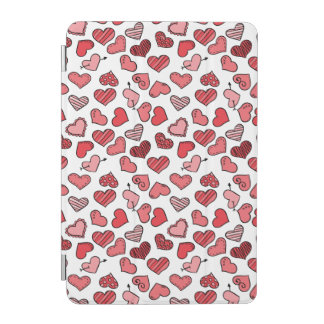 Fluttering simple Valentine hearts pattern iPad Mini Cover