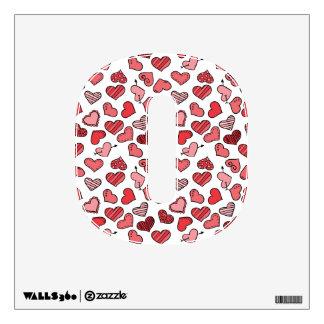 Fluttering simple Valentine hearts pattern Wall Sticker