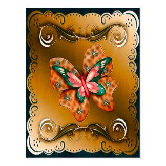 Flutterings Butterfly Bordered Postcard