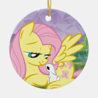 Fluttershy and Angel Ceramic Ornament