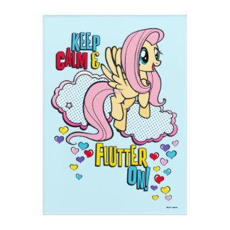 Fluttershy | Keep Calm & Flutter On! Acrylic Wall Art