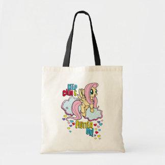 Fluttershy   Keep Calm & Flutter On! Tote Bag