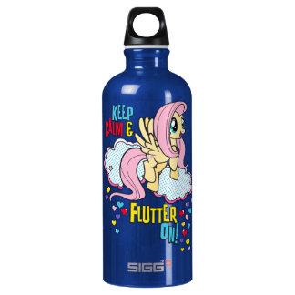 Fluttershy   Keep Calm & Flutter On! Water Bottle