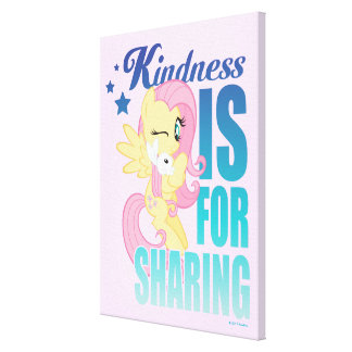 Fluttershy | Kindness Is For Sharing Canvas Print