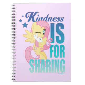 Fluttershy | Kindness Is For Sharing Notebook