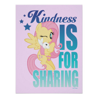 Fluttershy | Kindness Is For Sharing Poster