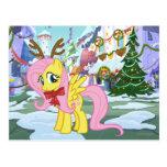 Fluttershy Reindeer Postcard