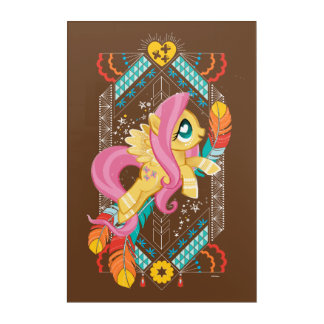 Fluttershy   Tribal Pastels Acrylic Wall Art