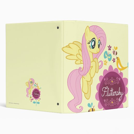 Fluttershy with Birds and Bees 3 Ring Binders