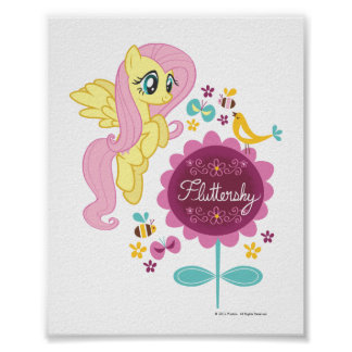 Fluttershy with Birds and Bees Poster