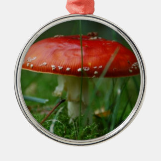 Fly agaric metal ornament