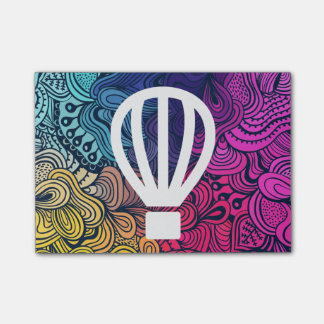 Fly Airballoons Minimal Post-it Notes