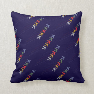 fly / airplanes throw pillow