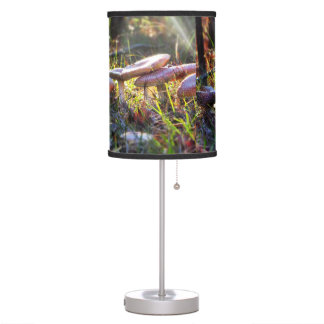 Fly Amanita in the Woodlands Table Lamp