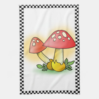 Fly Amanita Muscaria Mushrooms Personalized Kitchen Towel