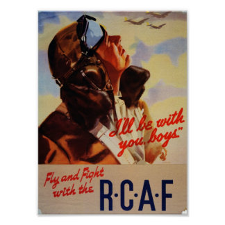 Fly and Fight with the RCAF Poster