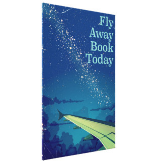 Fly Away Book Today vintage flight poster Canvas Print