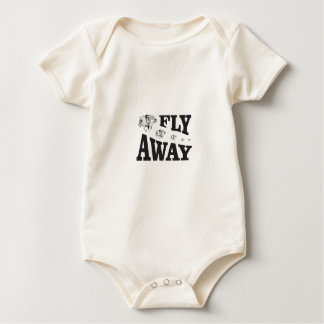 fly away horses baby bodysuit